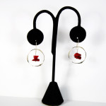 Sterling Silver Handmade earrings with Red Coral