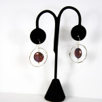 Sterling Silver Handmade earrings with coin black