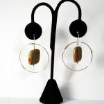 Sterling Silver earrings circle w/granite