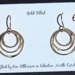 Gold Filled Handmade Earrings 3 Multiple Circles