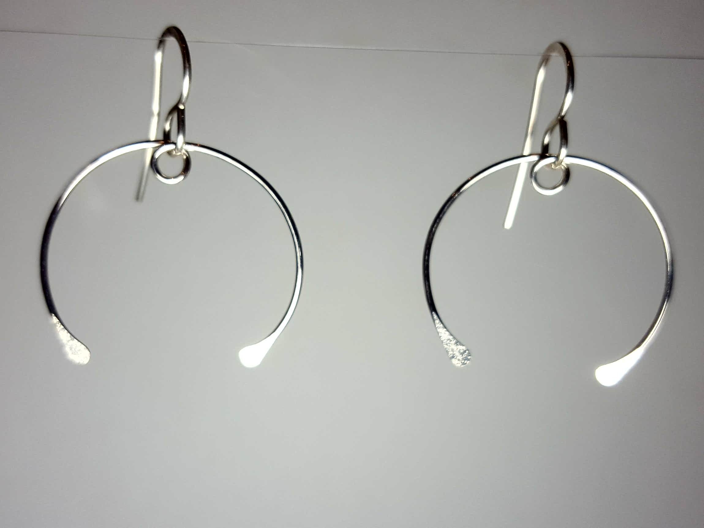 Sterling Silver Handmade Earrings Wishbone