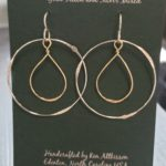 Sterling Silver & Gold Filled Handmade earrings large circle with fat twist