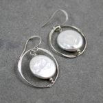 Sterling Silver Handmade Earrings with Fresh Water Pearl